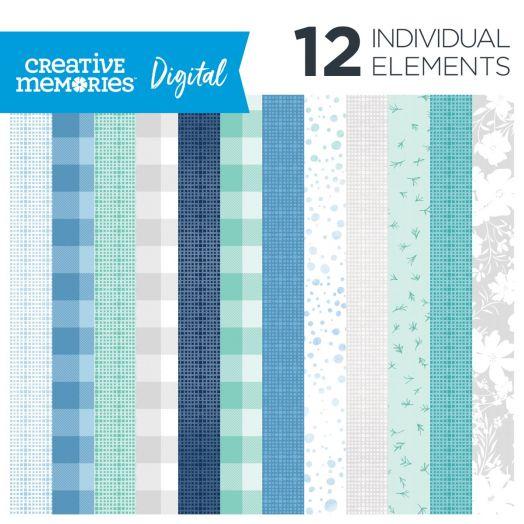 Creative Memories Spring Medley digital tonal paper for scrapbooking - D657754