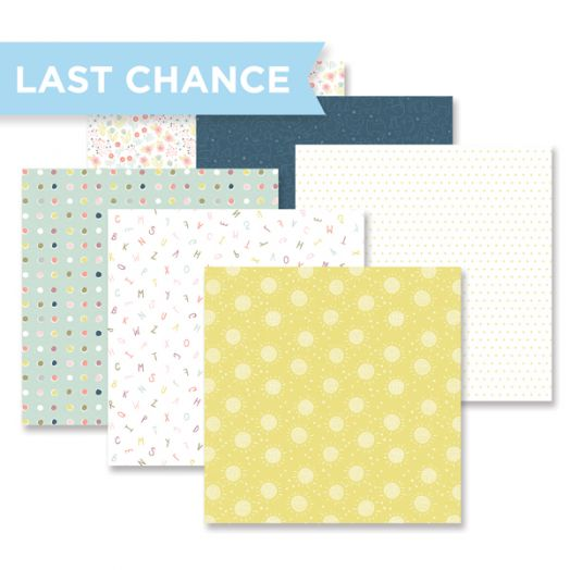 Storytime baby scrapbook paper with 12 double-sided sheets with baby-themed designs - Creative Memories