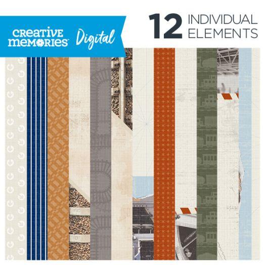 Creative Memories Trains digital paper