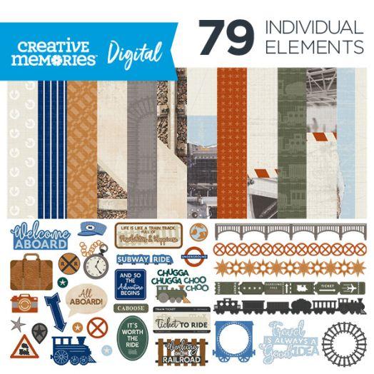 Creative Memories trains digital scrapbook kit