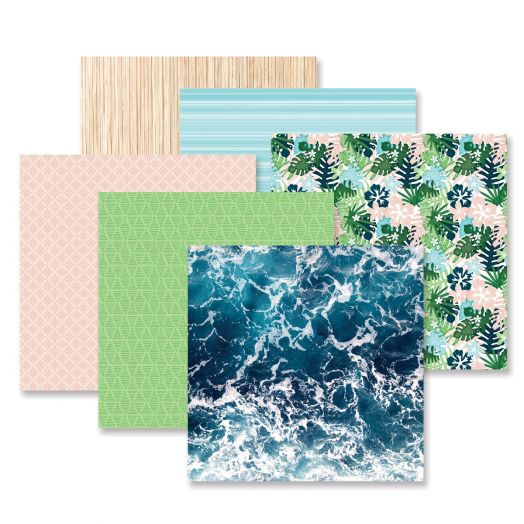Creative Memories Vitamin Sea tropical scrapbook paper