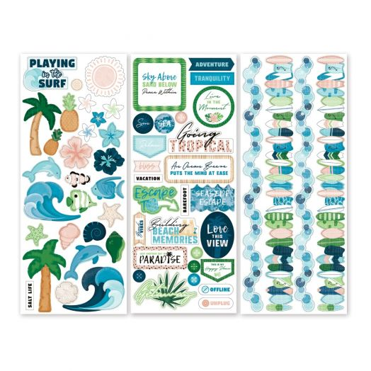 Creative Memories Vitamin Sea tropical stickers