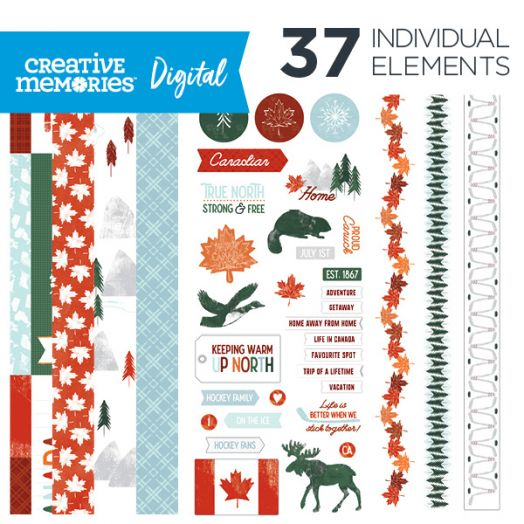 Creative Memories True North digital Canada themed scrapbook kit