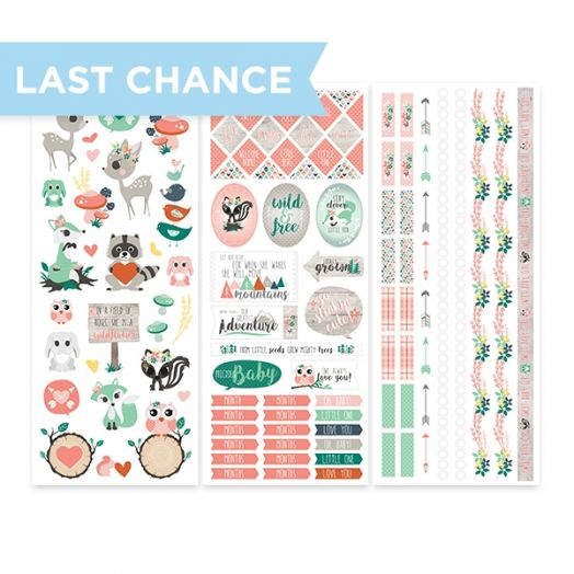 Woodland Whimsy Baby Girl Stickers (3/pk) - Creative Memories